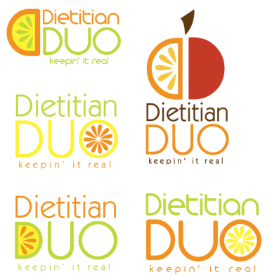 dietitian duo logo options