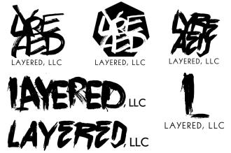 Layered LLC logo design concepts